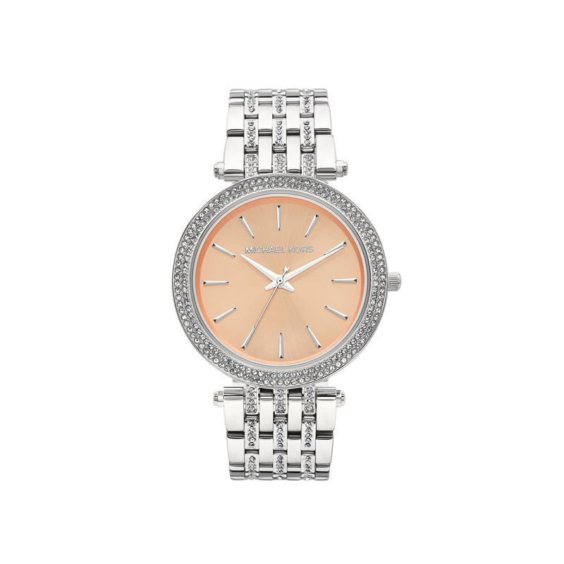 Michael Kors Darci Glitz Watch MK3218 Rose Gold/Silver - Front