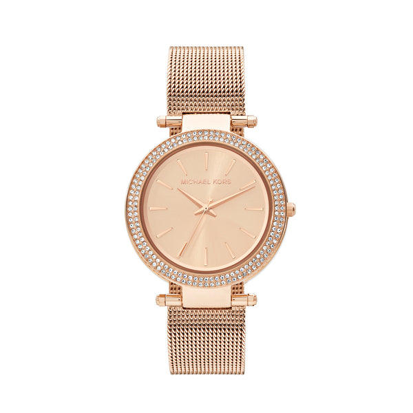 Michael Kors Mesh Darci Watch MK3369 Rose Gold - Front