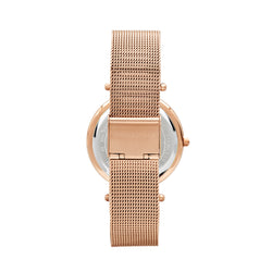 Michael Kors Mesh Darci Watch MK3369 Rose Gold - Back