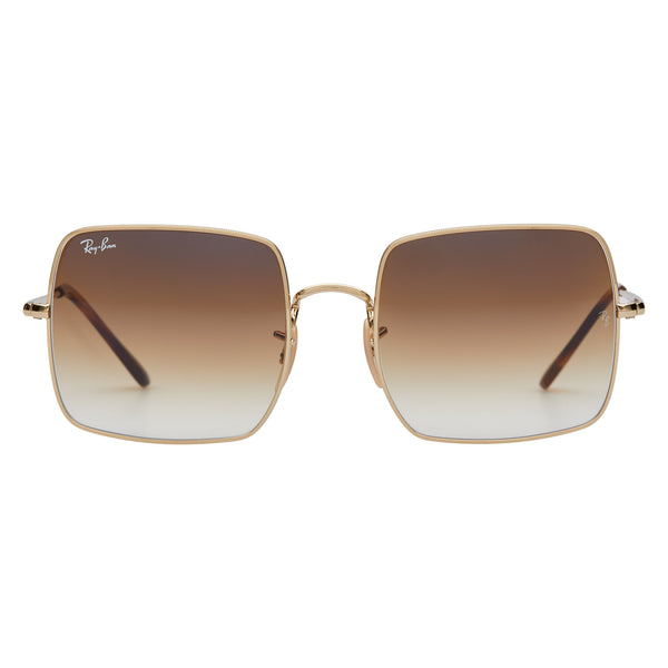 Ray-Ban Square Gradient RB1971 Sunglasses - Light Brown/Gold