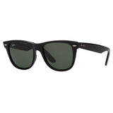 Ray-Ban Original Wayfarer RB2140 Large Black Sunglasses - Angle