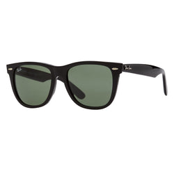 Ray-Ban Wayfarer RB2140F Sunglasses - Black/Green Angle