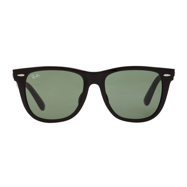 Ray-Ban Wayfarer RB2140F Sunglasses - Black/Green Front