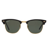 Ray-Ban Clubmaster RB3016 Polarised Black Sunglasses - Front