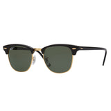 Ray-Ban Clubmaster RB3016 Polarised Black Sunglasses - Angle