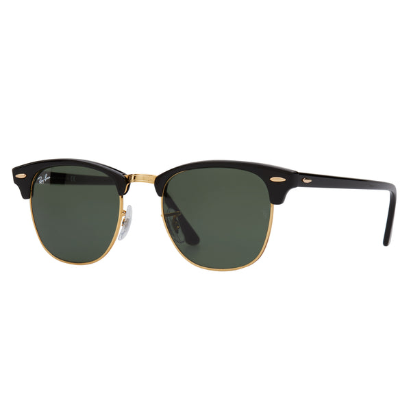 Ray-Ban Clubmaster RB3016 Sunglasses Black - Angle