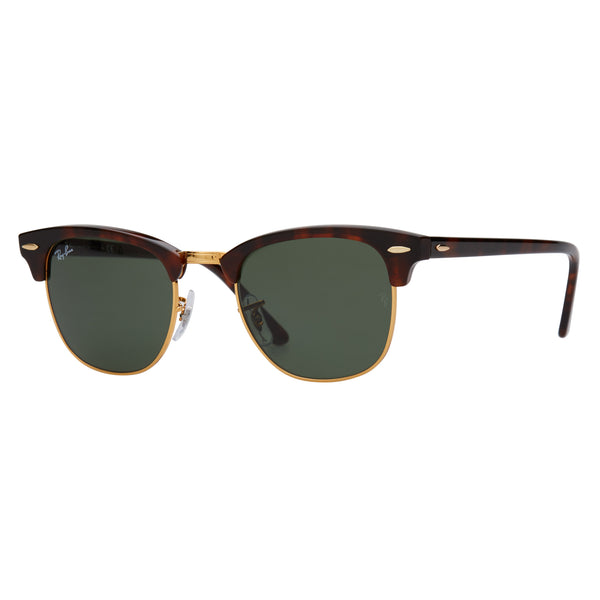 Ray-Ban Clubmaster RB3016 Tortoise Sunglasses - Angle