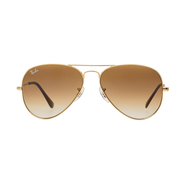 Ray-Ban Aviator Gradient RB3025 Sunglasses - Light Brown/Gold Front