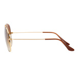 Ray-Ban Aviator Gradient RB3025 Sunglasses - Light Brown/Gold Side