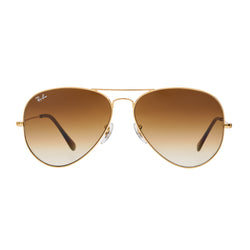 71fafff766c Ray-Ban Aviator Gradient RB3025 Large Sunglasses - Light Brown Gold Front