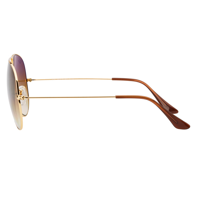 4b4eafc3bc2 Ray-Ban Aviator Gradient RB3025 Large Sunglasses - Light Brown Gold Side