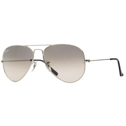 Ray-Ban Aviator Gradient RB3025 Sunglasses - Grey/Silver Angle