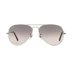 Ray-Ban Aviator Gradient RB3025 Sunglasses - Grey/Silver Front