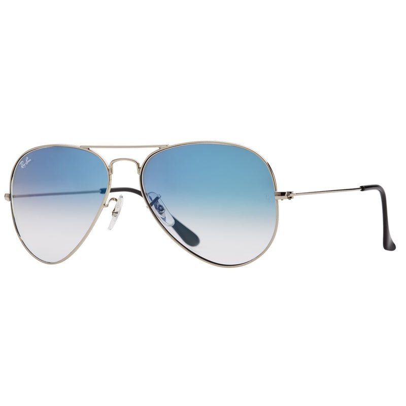 Ray-Ban Aviator Gradient RB3025 Sunglasses - Blue/Silver Angle