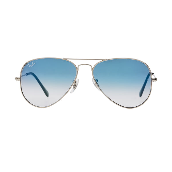Ray-Ban Aviator Gradient RB3025 Sunglasses - Blue/Silver Front