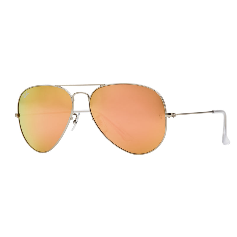 Ray-Ban Aviator Flash RB3025 Sunglasses - Pink/Silver Angle