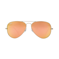 Ray-Ban Aviator Flash RB3025 Sunglasses - Pink/Silver Front