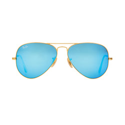 Ray-Ban Aviator Flash RB3025 Sunglasses - Blue/Gold Front