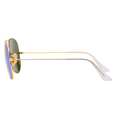 Ray-Ban Aviator Flash RB3025 Sunglasses - Blue/Gold Side