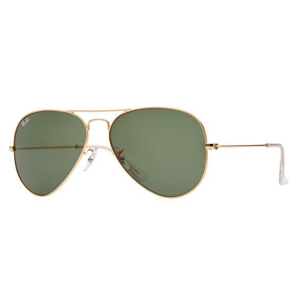 Ray-Ban Aviator RB3025 Sunglasses - Gold/Green Angle