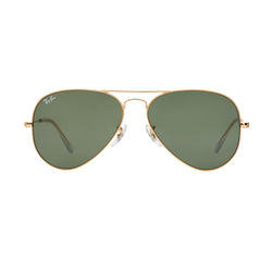 Ray-Ban Aviator RB3025 Sunglasses - Gold/Green Front