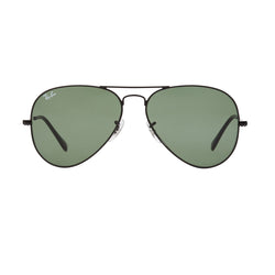 Ray-Ban Aviator RB3025 Sunglasses - Black/Green Front