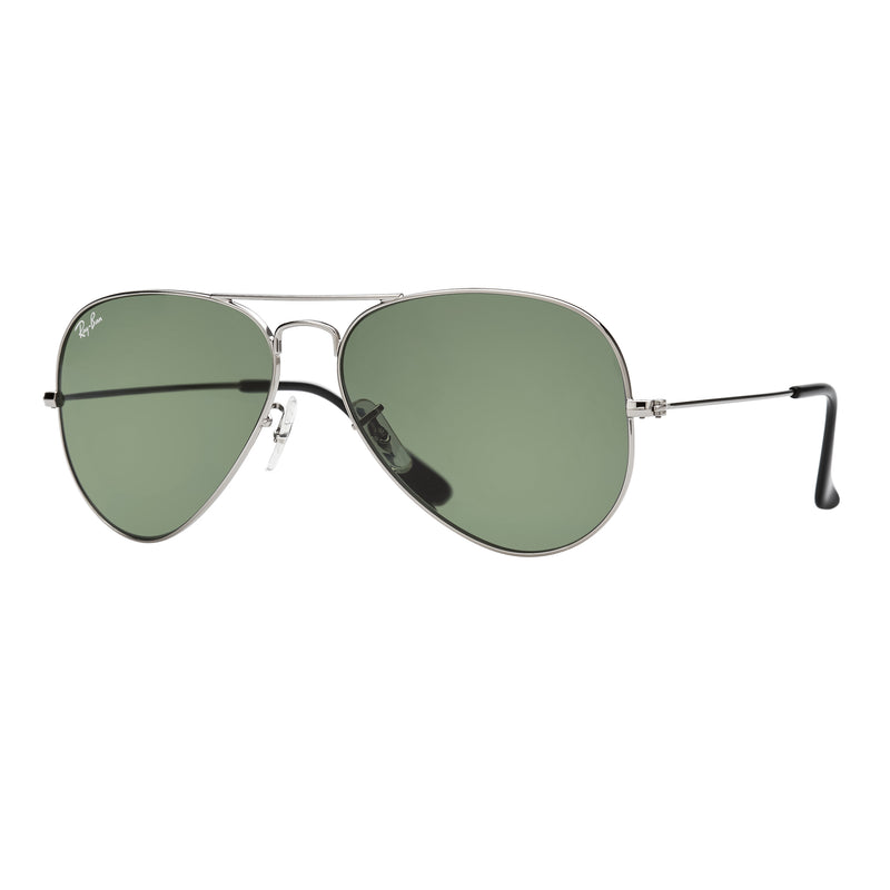 Ray-Ban Aviator RB3025 Sunglasses - Gunmetal/Green Angle