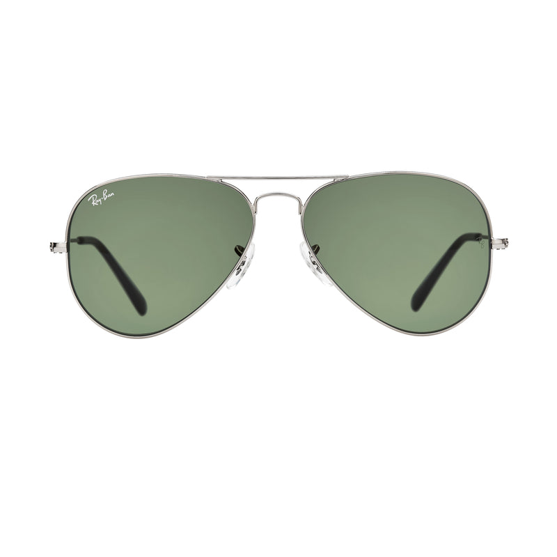 Ray-Ban Aviator RB3025 Sunglasses - Gunmetal/Green Front