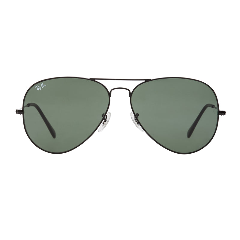 Ray-Ban Aviator RB3026 Large Sunglasses - Black/Green Front