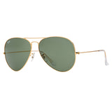 Ray-Ban Aviator RB3026 Large Sunglasses - Gold/Green Angle