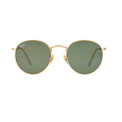 Ray-Ban Round RB3447 Sunglasses - Gold/Green Front