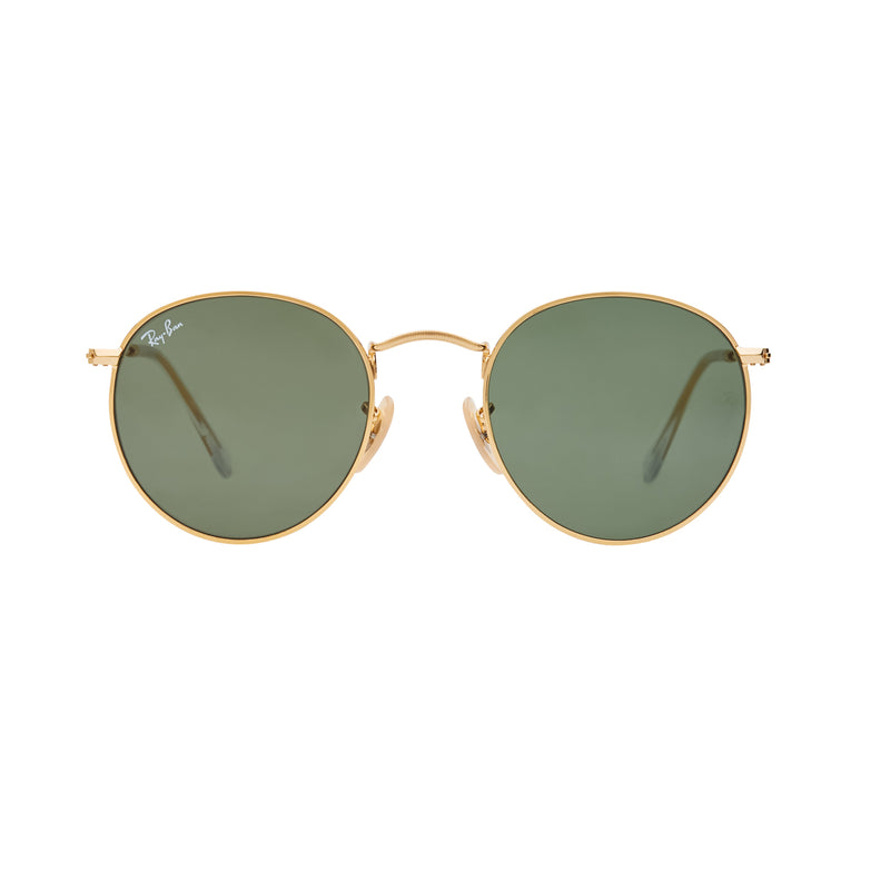 4b324eab90 Ray-Ban Round RB3447 Sunglasses - Gold Green – MODE STORE