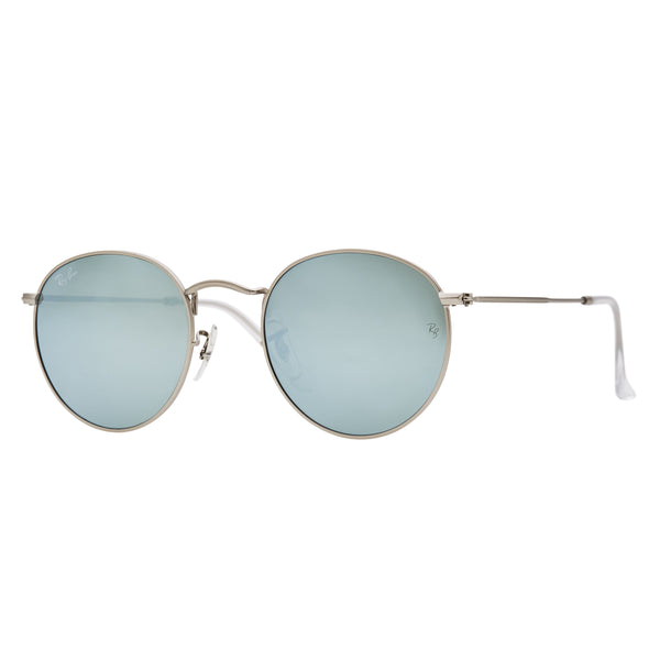 Ray-Ban Round Flash RB3447 Sunglasses - Silver Angle