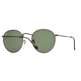 Ray-Ban Round RB3447 Sunglasses - Gunmetal/Green Angle