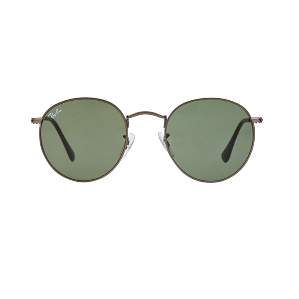 Ray-Ban Round RB3447 Sunglasses - Gunmetal/Green Front