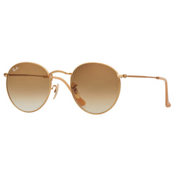 Ray-Ban Round Gradient RB3447 Sunglasses - Light Brown/Gold Angle