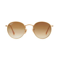 Ray-Ban Round Gradient RB3447 Sunglasses - Light Brown/Gold Front