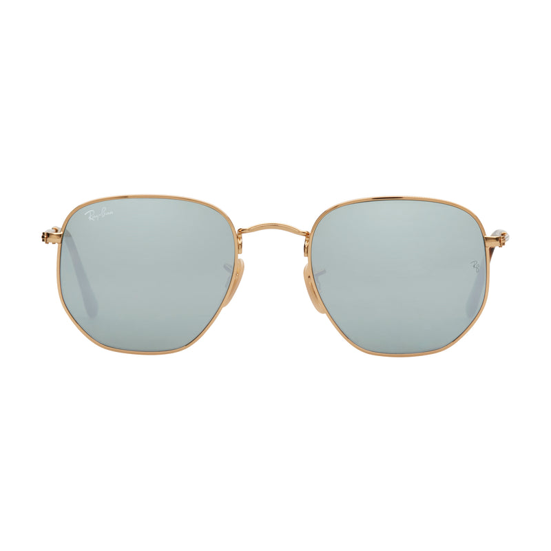 Ray-Ban Hexagonal RB3548N Sunglasses - Silver Front