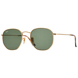 Ray-Ban Hexagonal RB3548N Sunglasses - Gold/Green Angle