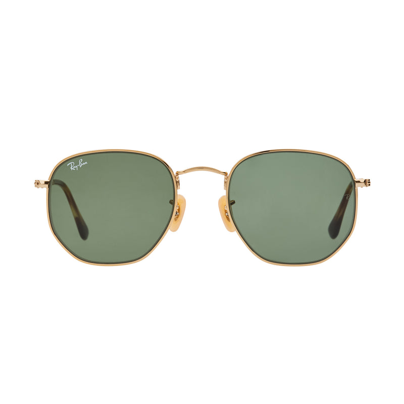 Ray-Ban Hexagonal RB3548N Sunglasses - Gold/Green Front