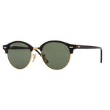 Ray-Ban Clubround RB4246 Sunglasses - Black/Green Angle