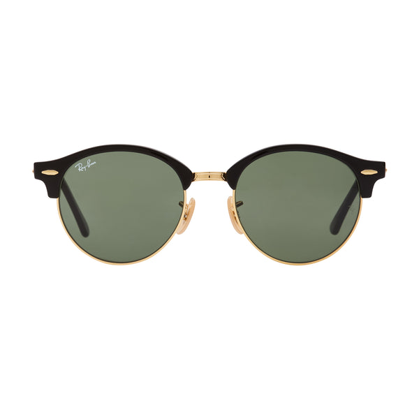Ray-Ban Clubround RB4246 Sunglasses - Black/Green Front