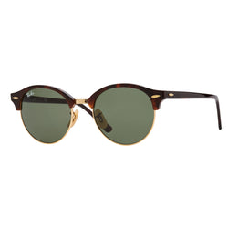 Ray-Ban Clubround RB4246 Sunglasses - Tortoise/Green Angle