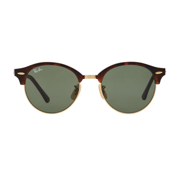 Ray-Ban Clubround RB4246 Sunglasses - Tortoise/Green Front
