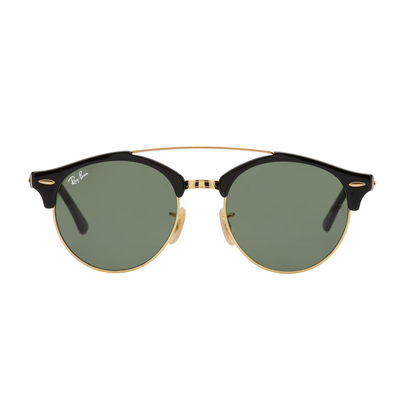 Ray-Ban Clubround Double Bridge RB4346 Sunglasses Black/Green - Front