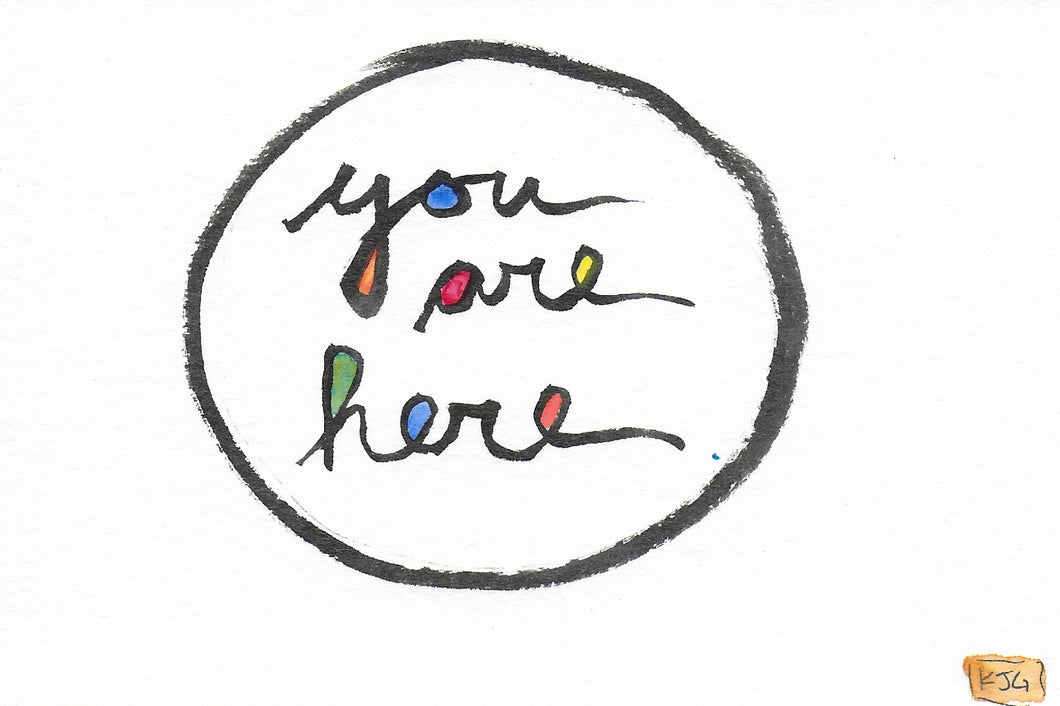you are here (Sticky Label)
