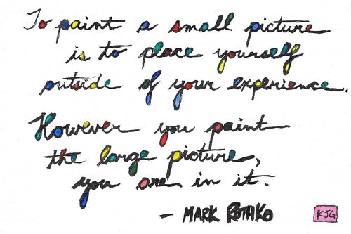 To paint a small picture... - Rothko (Sticky Label)