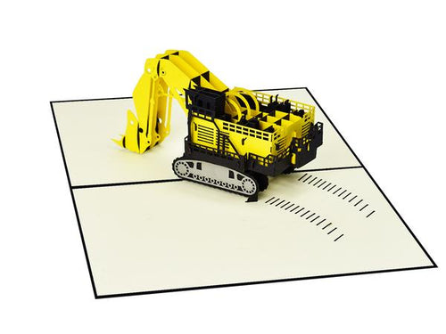 Pop Up Construction Digger Card