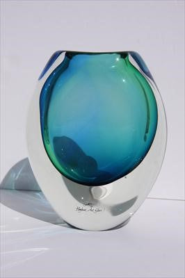 Eclipse Vase in Aqua by Hoglund