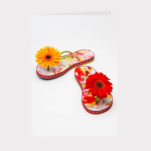 Golly Gosh Floral Gift Card - Gerbera Jandals